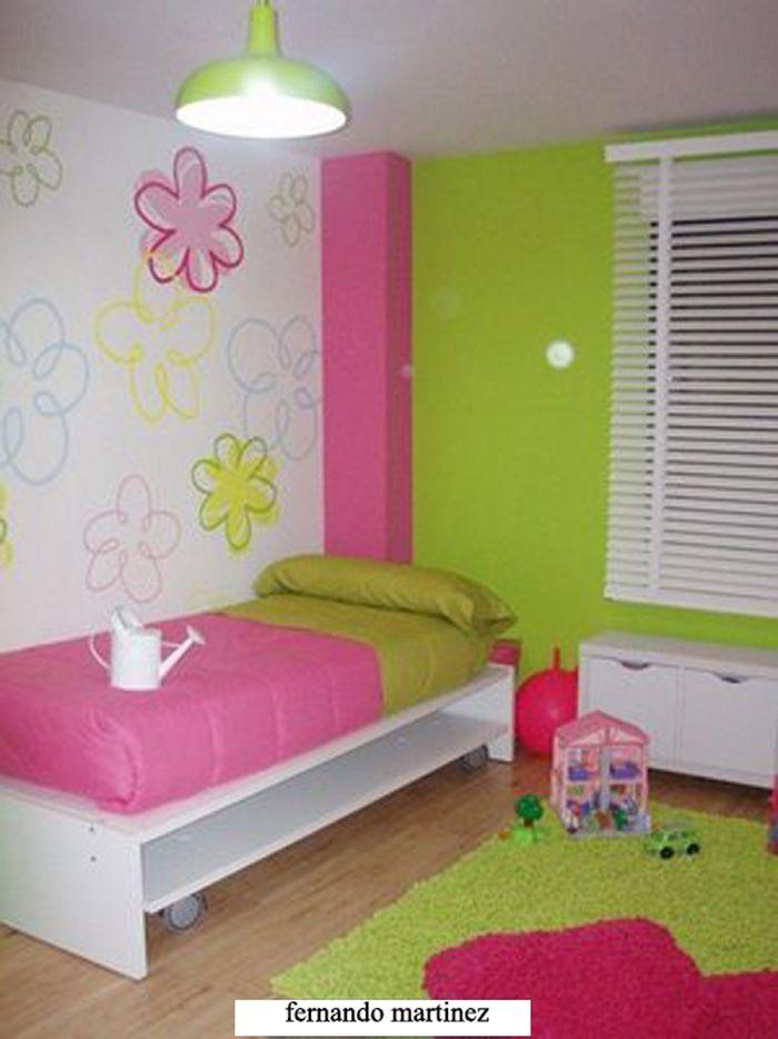 Colores juveniles color fusia con verde pistacho decoraci n de interiores - Heces color verde bebe 2 meses ...