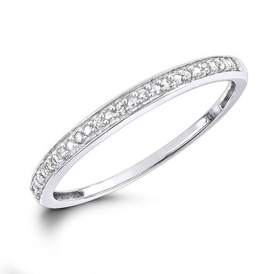 affordable diamond wedding bands for women stackable diamond ring 10k gold - Affordable Diamond Wedding Rings