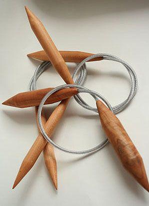 Jenkins Woodworking Handmade Maple Circular Knitting Needles