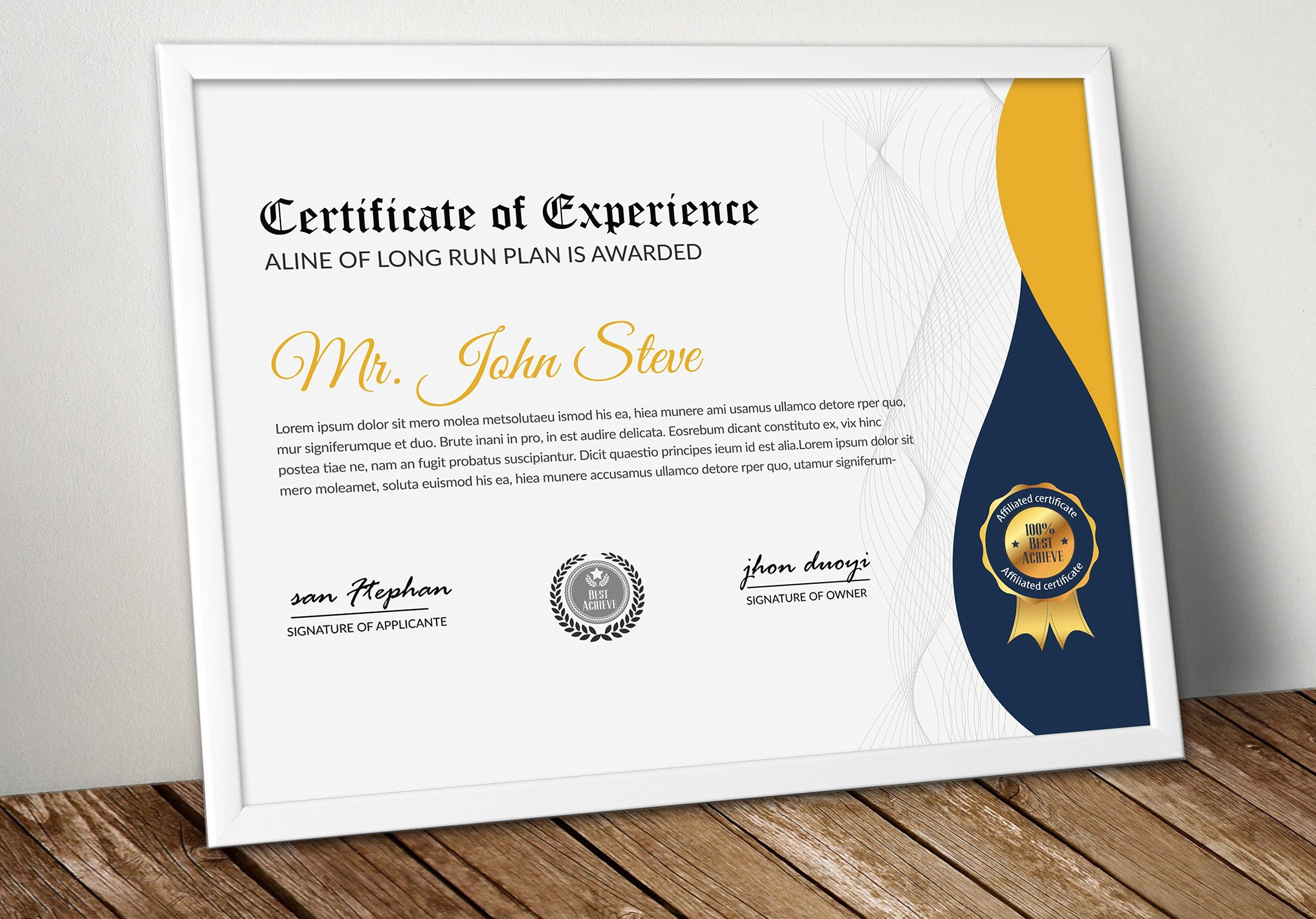 Certificate Template Word Format Easily Customization