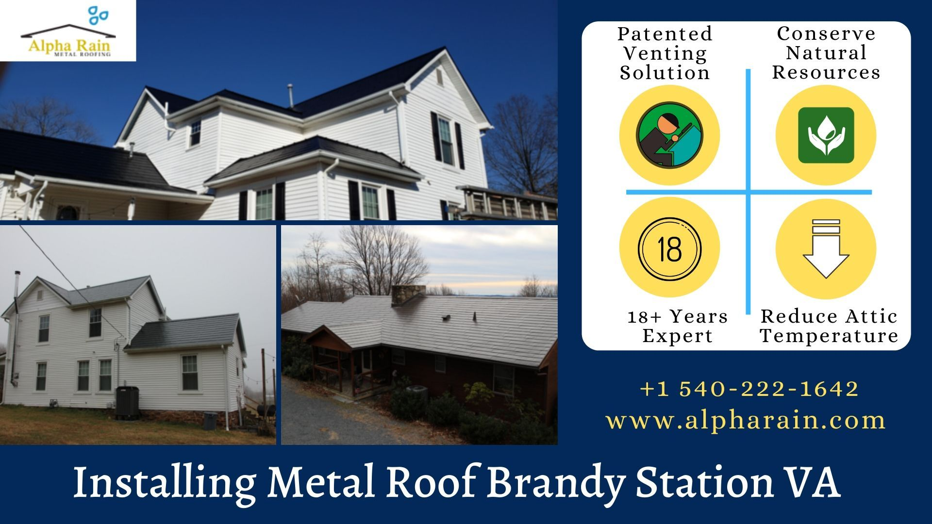 Install The Metal Roofing Brandy Station Va In 2020 Metal Roof Roofing Installation