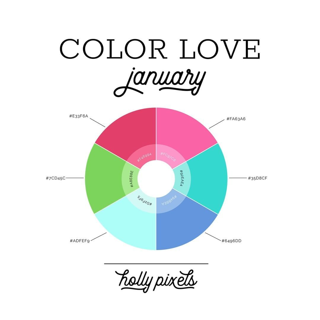 "Holly Pixels on Instagram: ""January Color Love is here ..."