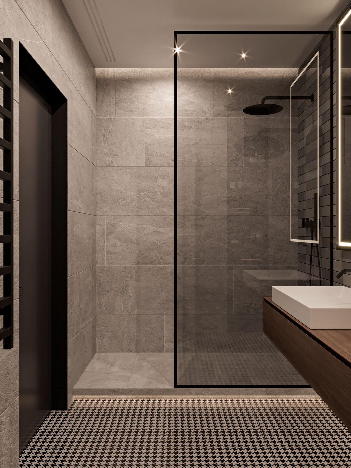 Master Bathroom Walk In Shower No Door