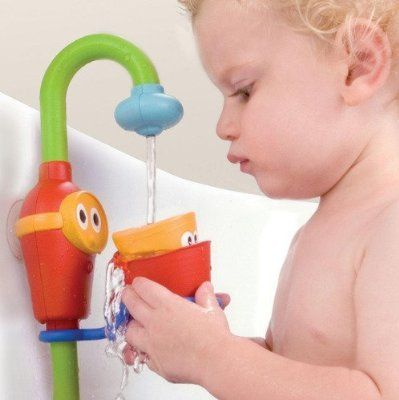 Baby Bath Toy Flow N Fill Spout Three Stackable Cups