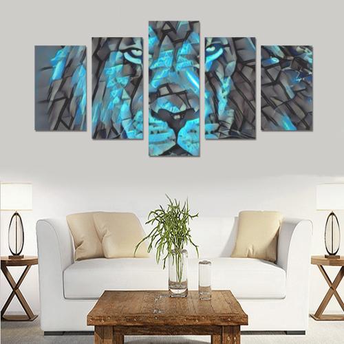 Lion Blues Canvas Print Sets C No Frame Id D4125490 Blue Canvas Poster Prints Print Sets