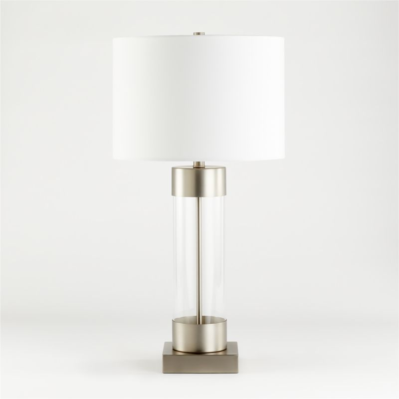 Avenue Nickel Table Lamp With Usb Port Reviews Crate And Barrel Nickel Table Lamps Table Lamp Bronze Table Lamp