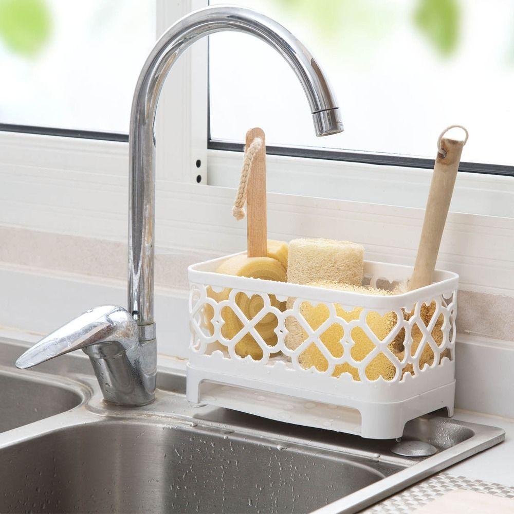Home Sink Storage Holder Kitchen Kitchenware Table Modern Tap Clean Interior Design Plastic Cooki Kitchen Sponge Holder Kitchen Sink Caddy Kitchen Sink Storage
