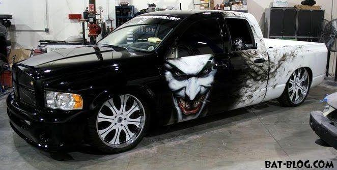 The Joker Custom Truck Paint Job With Images Truck Paint
