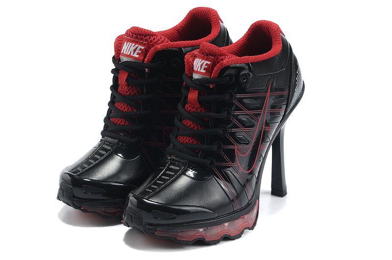 Cheap 2012 Women Nike Air Max 2009 High Heels Black Red  1f98632a7b