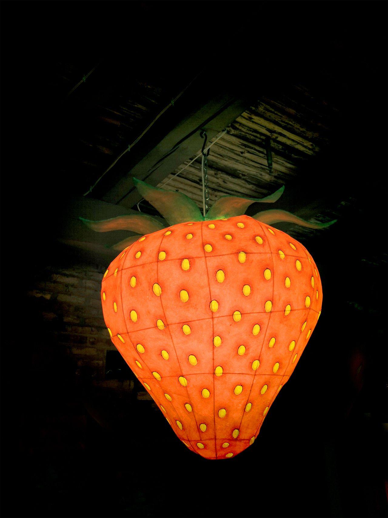 Nash Photografie / Die wahrscheinlich größte Erdbeerlampe der Welt / Probably the biggest strawberry lamp in the world