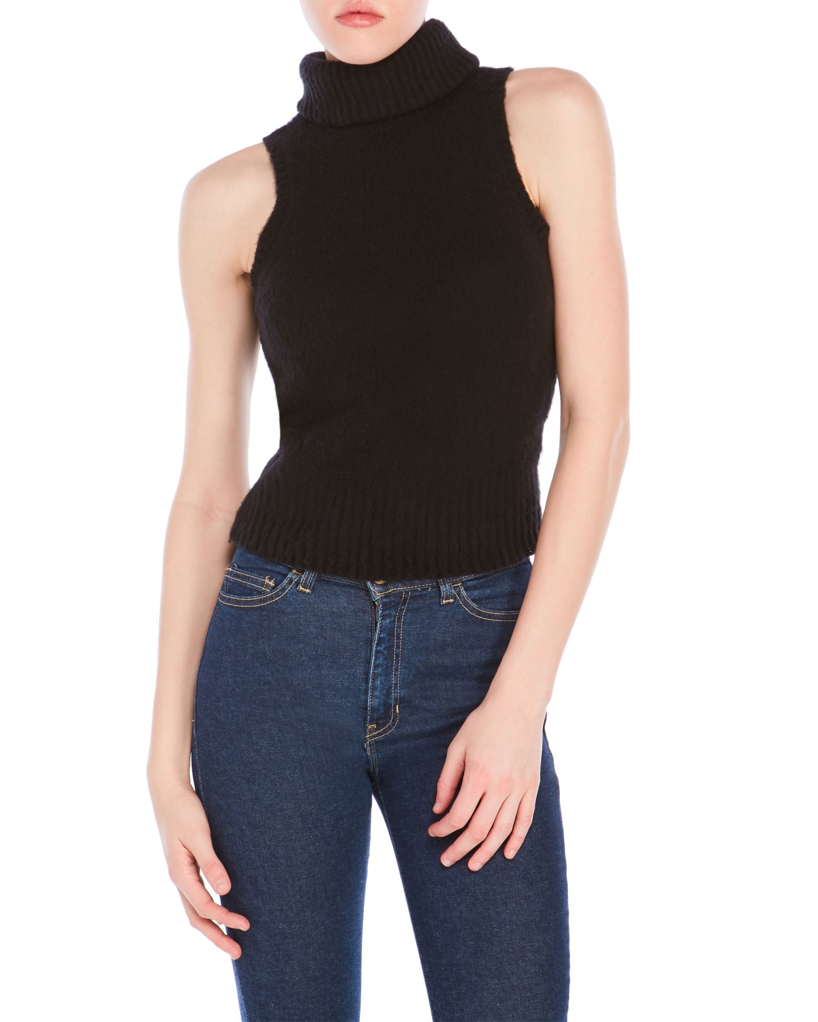 800c789f6e8ff8 Rachel Zoe Elodie Sleeveless Turtleneck Sweater