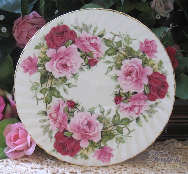 Image detail for -Heirloom Summertime Rose Bone China Dessert Plate - Heirloom English ...