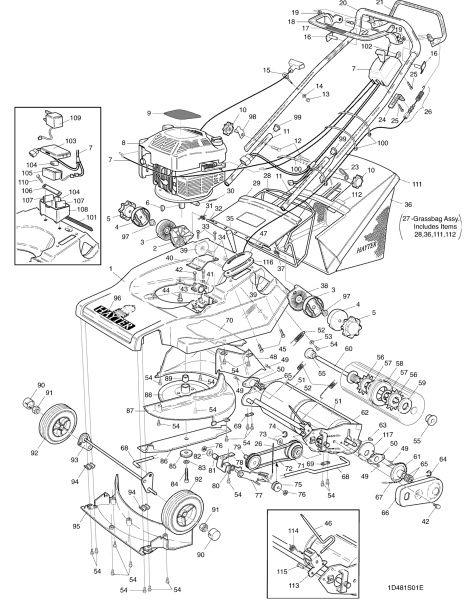 hayter harrier 48 481t001001 spares ordering diagrams