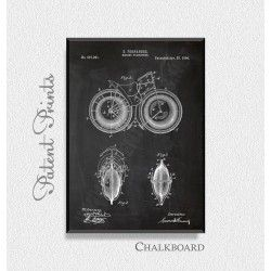 Marine Velicipede 1895 Patent Print