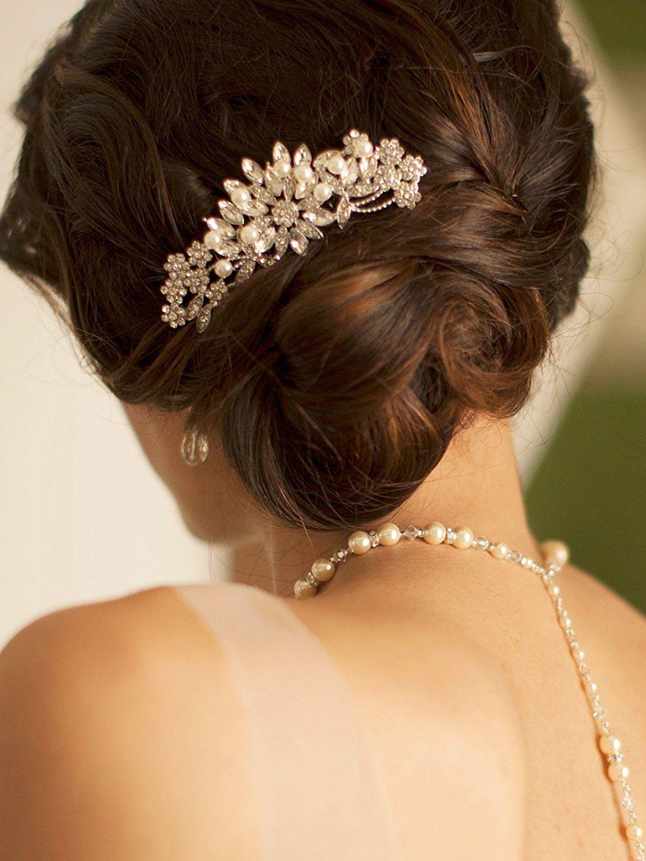 amazon: mariell vintage pearl and mixed crystal sunburst