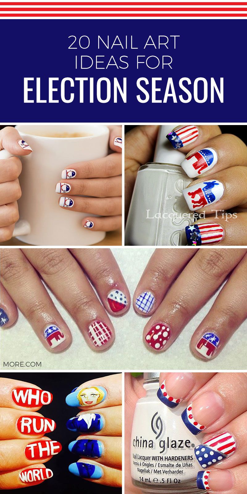 Donald Trump Nails Hillary Clinton Even Bernie Sanders Nail Art What More Could Someone Who Love Manicures And Politics Want