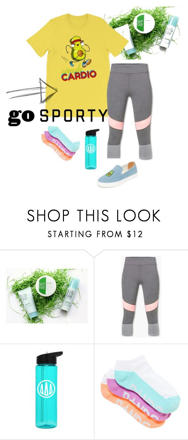 """Avocado Cardio Running or Workout Set for Fitness Lover"" by familymily ❤ liked on Polyvore featuring Nip+Fab, MANGO, Soludos, Trendy, healthy, fashionset, Avocado and fintess"