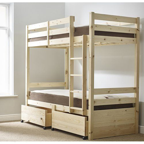 Best Emilio Single Bunk Bed With Drawers Viv Rae Ranzalar 400 x 300