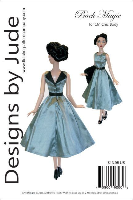 """Back Magic Doll Clothes Sewing Pattern 16/"""" Cami /& Antoinette Dolls Tonner"""