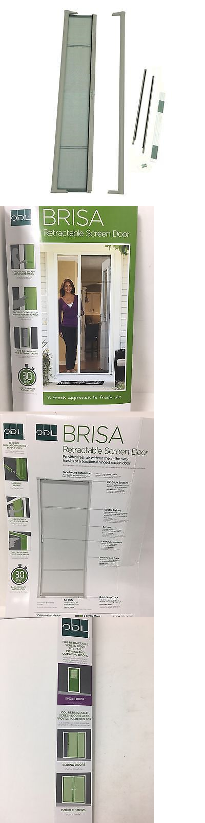 Odl Retractable Screen Door doors 85892: odl brisa sandstone 36 x 80 retractable screen door