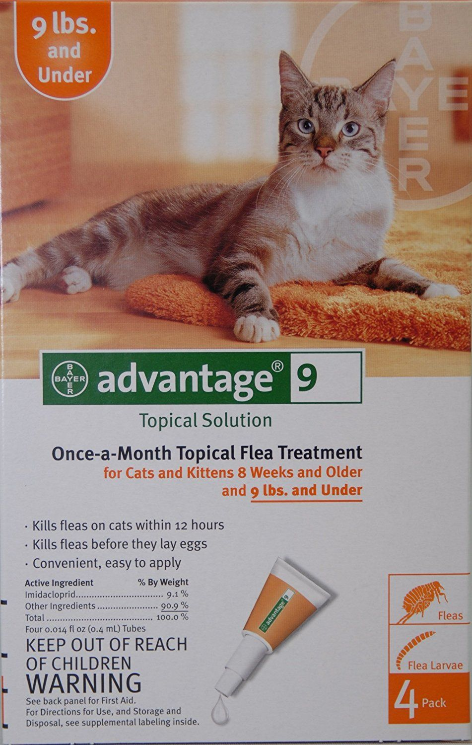 Advantage Cat Orange Under 9 Lbs By Advantage Read More At The Image Link This Is An Affiliate Link And I Receive A Commiss Cat Fleas Small Cat Fleas