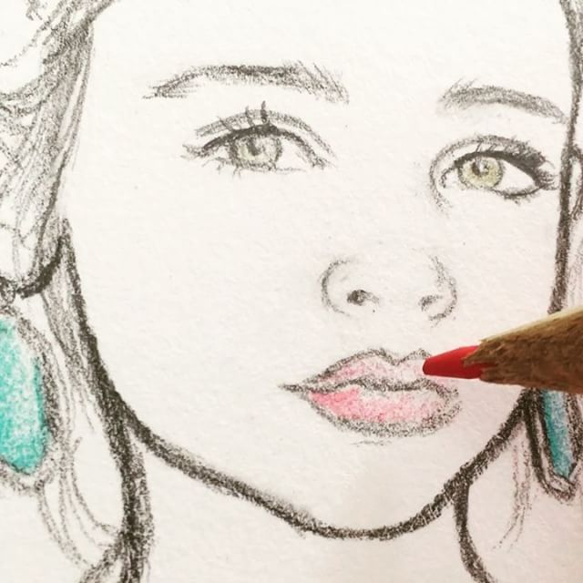 A little process video: this stage of a drawing sometimes feels like I'm applying makeup to the face... #art #beauty #fashion #fashionista #lips #draw #drawing #illustration #artist #artlife #artlovers #sketch #cute #portrait #artoftheday #process #creative #girl #pencildrawing #handmade #colours #face