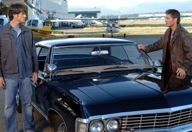 1967 Chevy Impala And Sam And Dean Winchester With Images