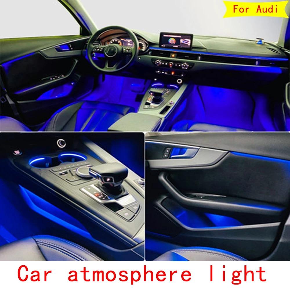 For Audi A3 A4 A5 A6 A7 Q5 Q7 Interior Led Decorative Ambient Light Car Atmosphere Light Decoration Door Trim Panel Audi A3 Audi Ambient Lighting