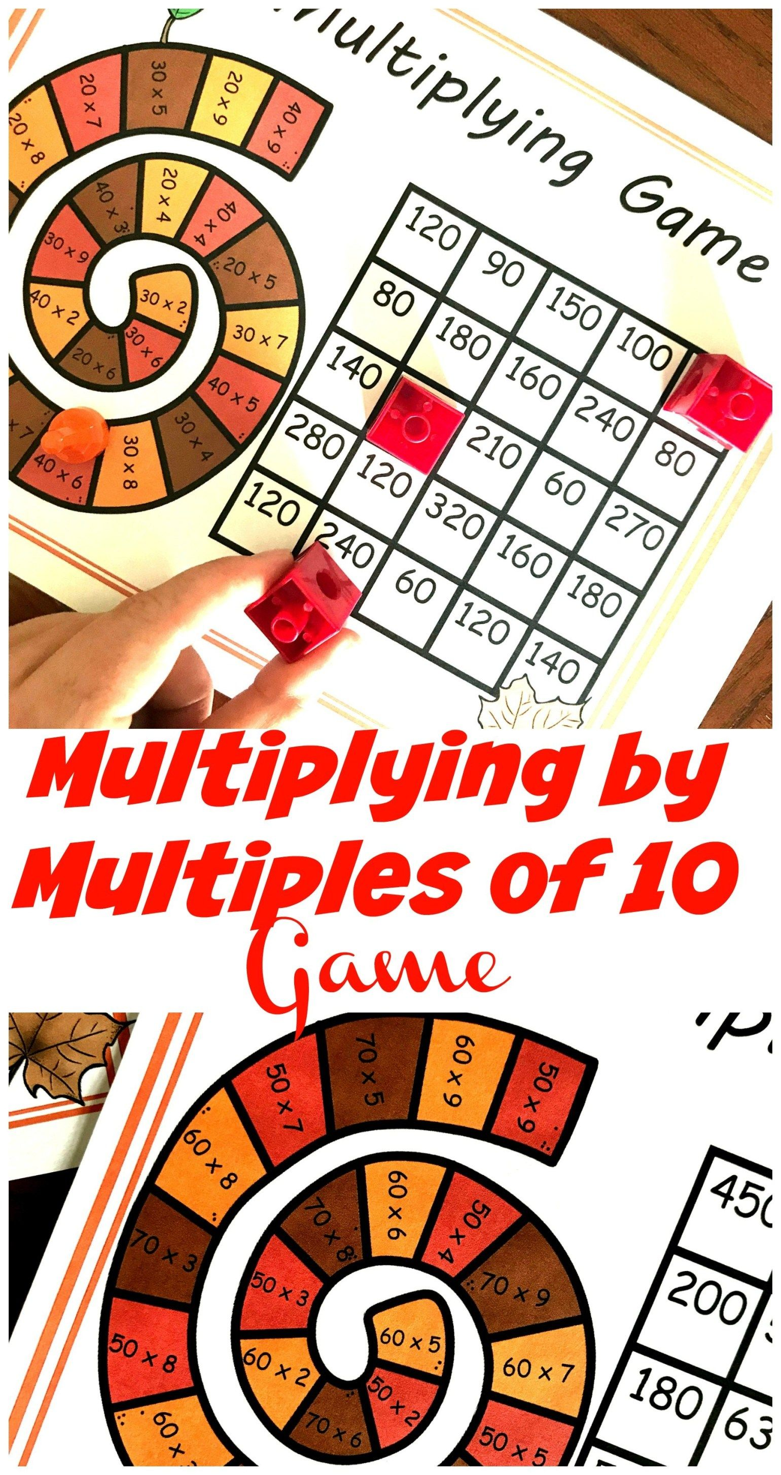 A Free Delightful Game For Multiplying By Multiples Of 10