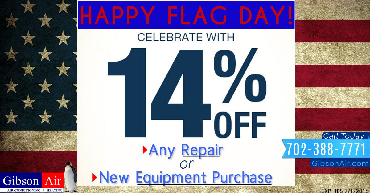 Celebrate Flag Day with 14 off any repair or new