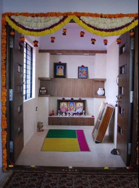 10 Pooja Room Door Designs That Beautify Your Mandir Entrance: Room Door Design, Pooja Room Door