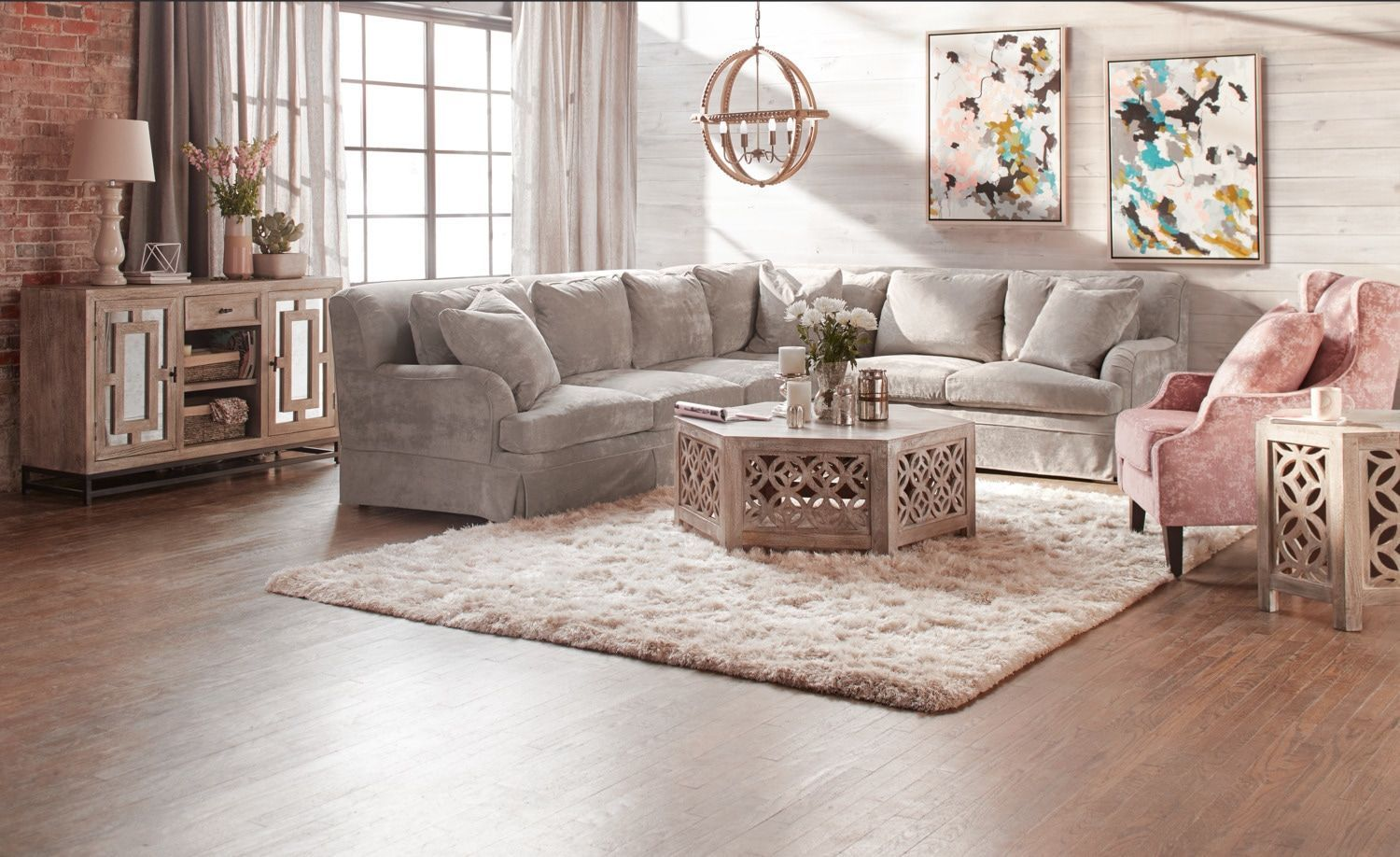 Wondrous Campbell Cumulus 2 Piece Sectional With Left Facing Sofa Onthecornerstone Fun Painted Chair Ideas Images Onthecornerstoneorg