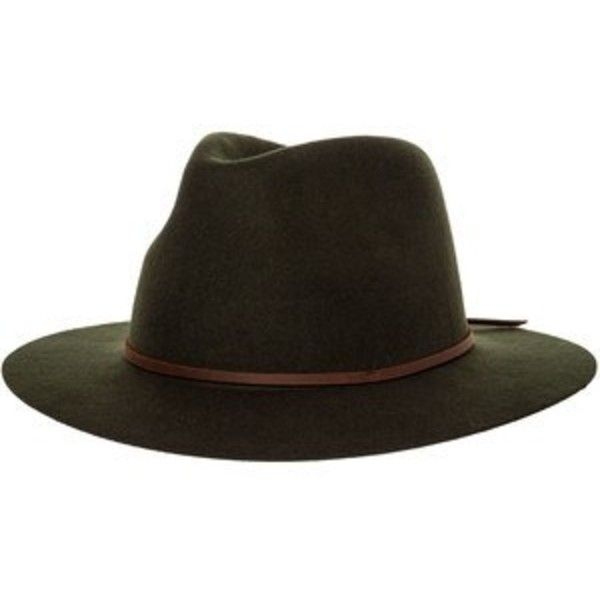 424a40451ba05 Brixton Wesley Fedora (82 AUD) ❤ liked on Polyvore featuring accessories