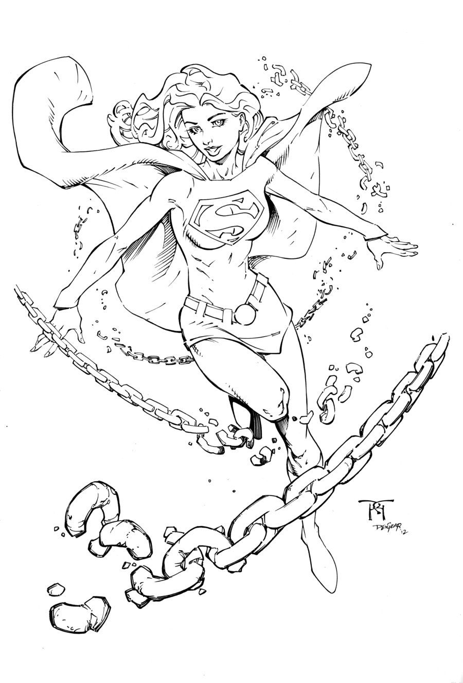Drawing Supergirl Coloring Pages CRAFTS AND MORE in 2019