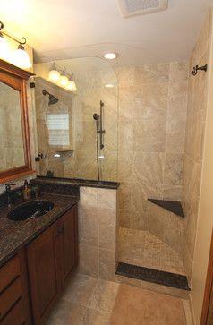 doorless shower bathroom design ideas, pictures, remodel