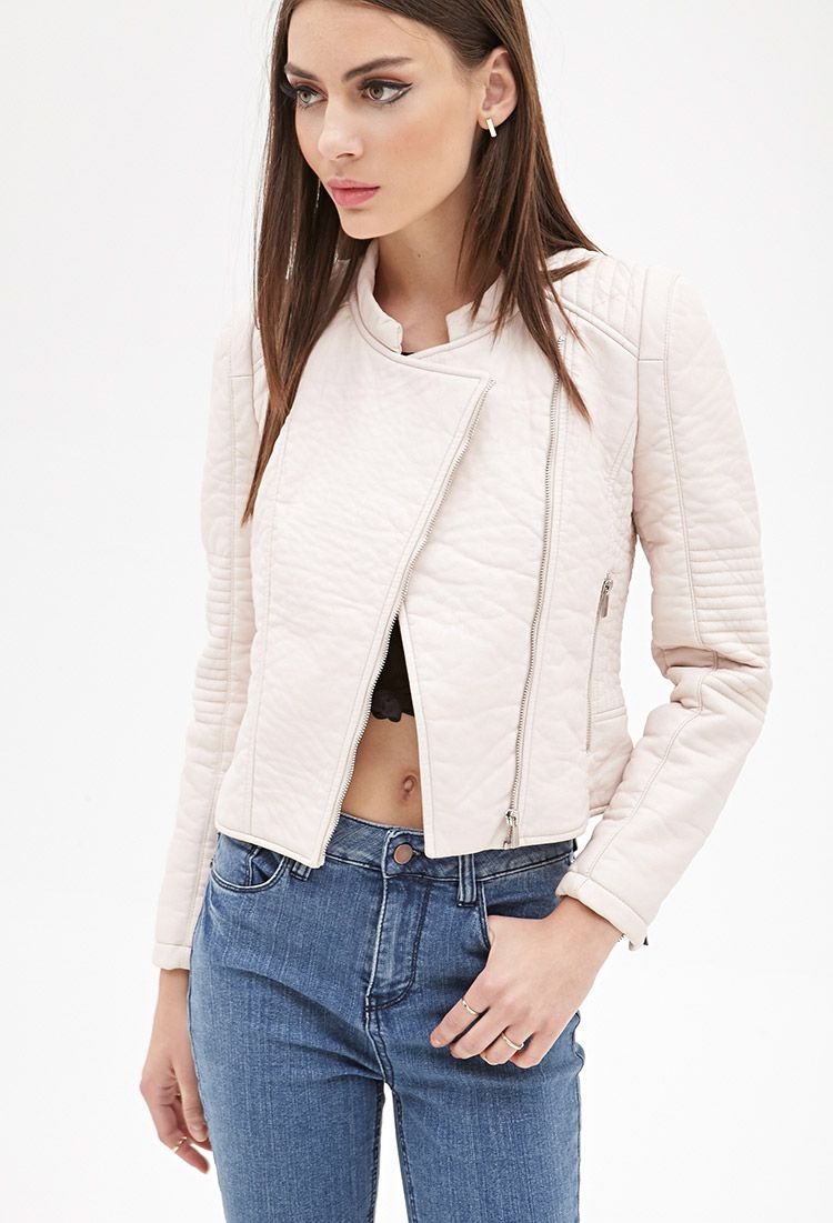 0df98863765e61 Quilted Faux Leather Jacket | FOREVER21 - 2055878932 | cute clothes ...