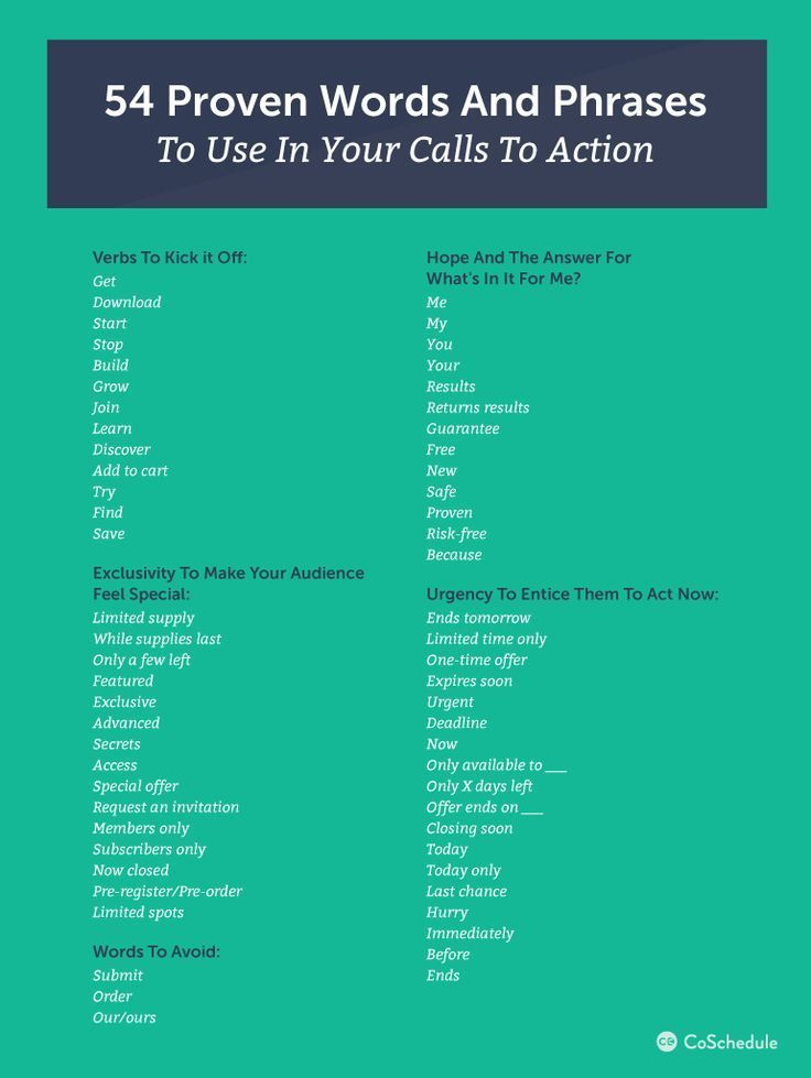 call to action examples in writing