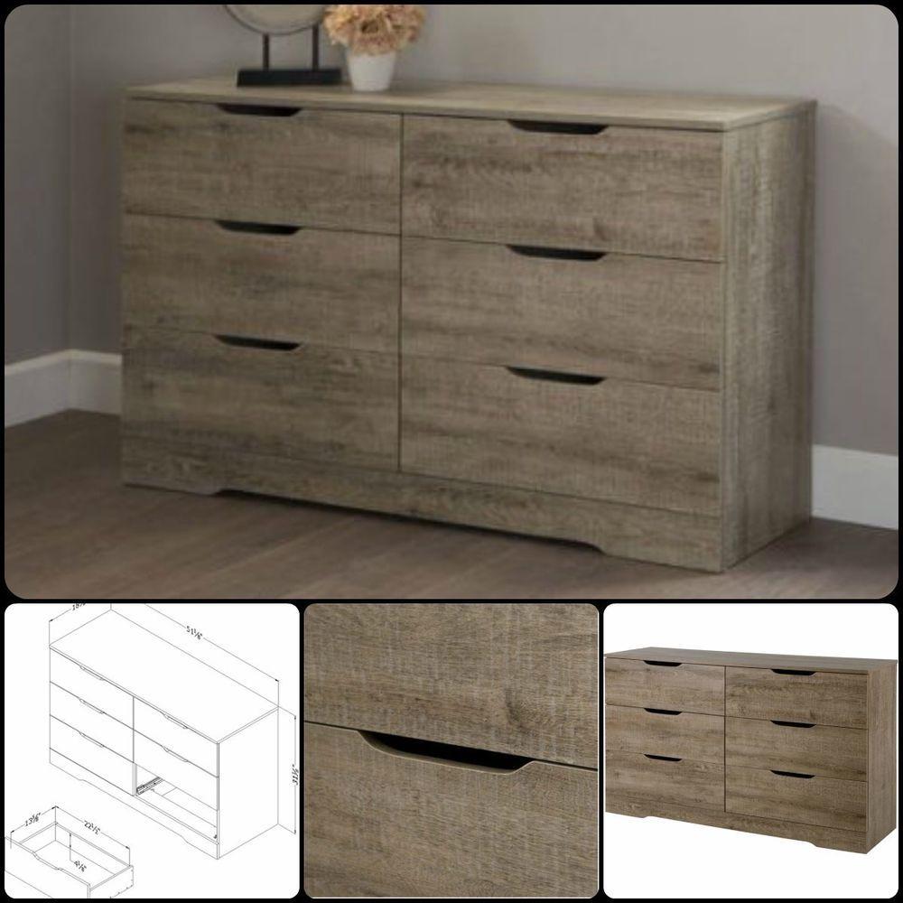 drawer bedroom dresser double wood furniture storage chest modern