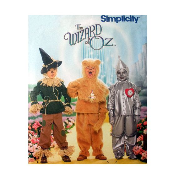 Wizard of Oz Costumes Tin Man, Cowardly Lion, Scarecrow Sewing ...