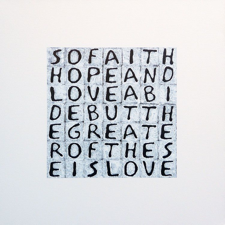 Faith Hope Love A Text Painting About Love S True Meaning Faith Hope Love Text Art Love Text