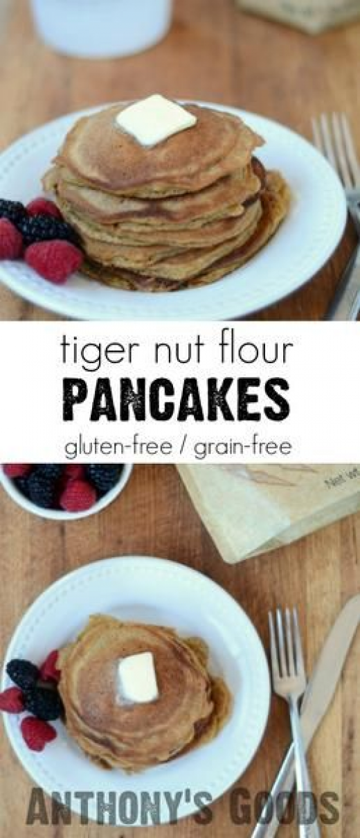 Tiger Nut Flour Pancakes #paleodessert