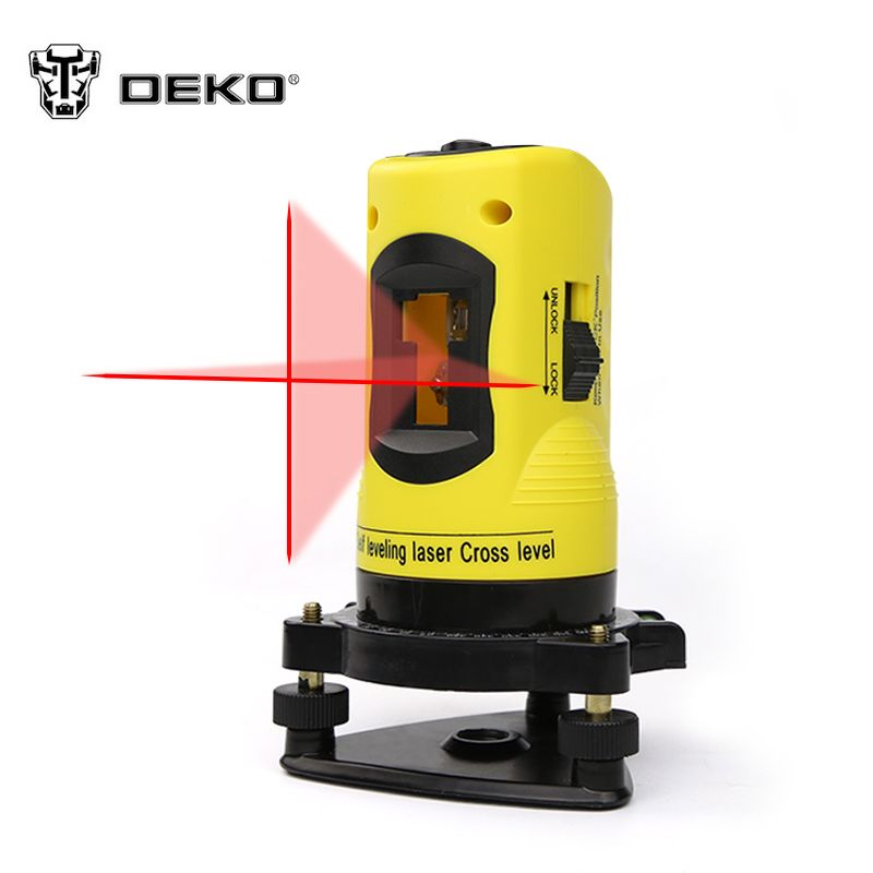 Dekopro Ll02 Household 2 Lines Cross Laser Level 360 Rotary Cross Laser Line Leveling Can Be Used With Outdoor Receiver Laser Levels Plastic Tool Box Laser