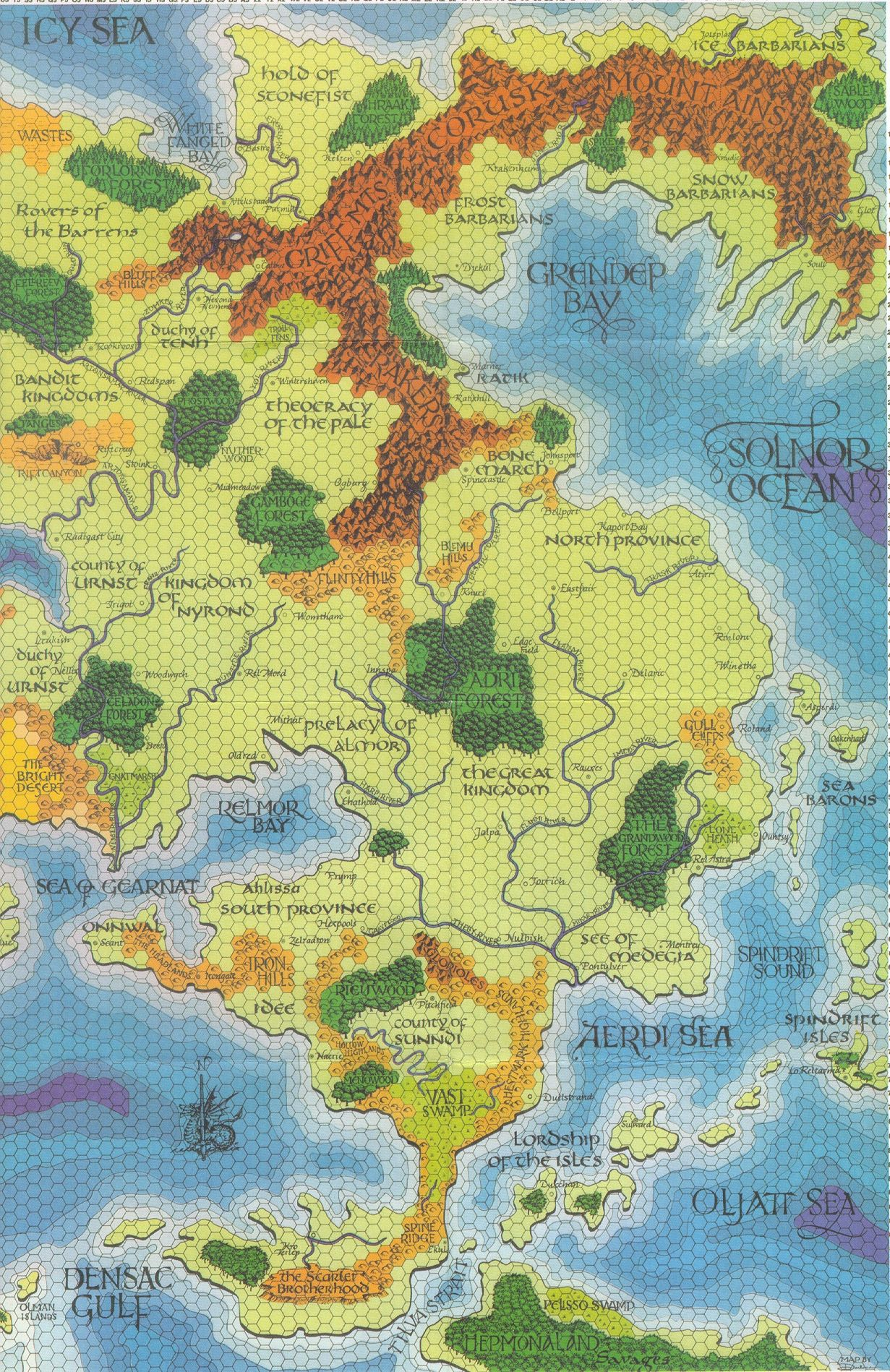Pt 2 of the Greyhawk map by Darlene | Roleplaying Games | Pinterest ...