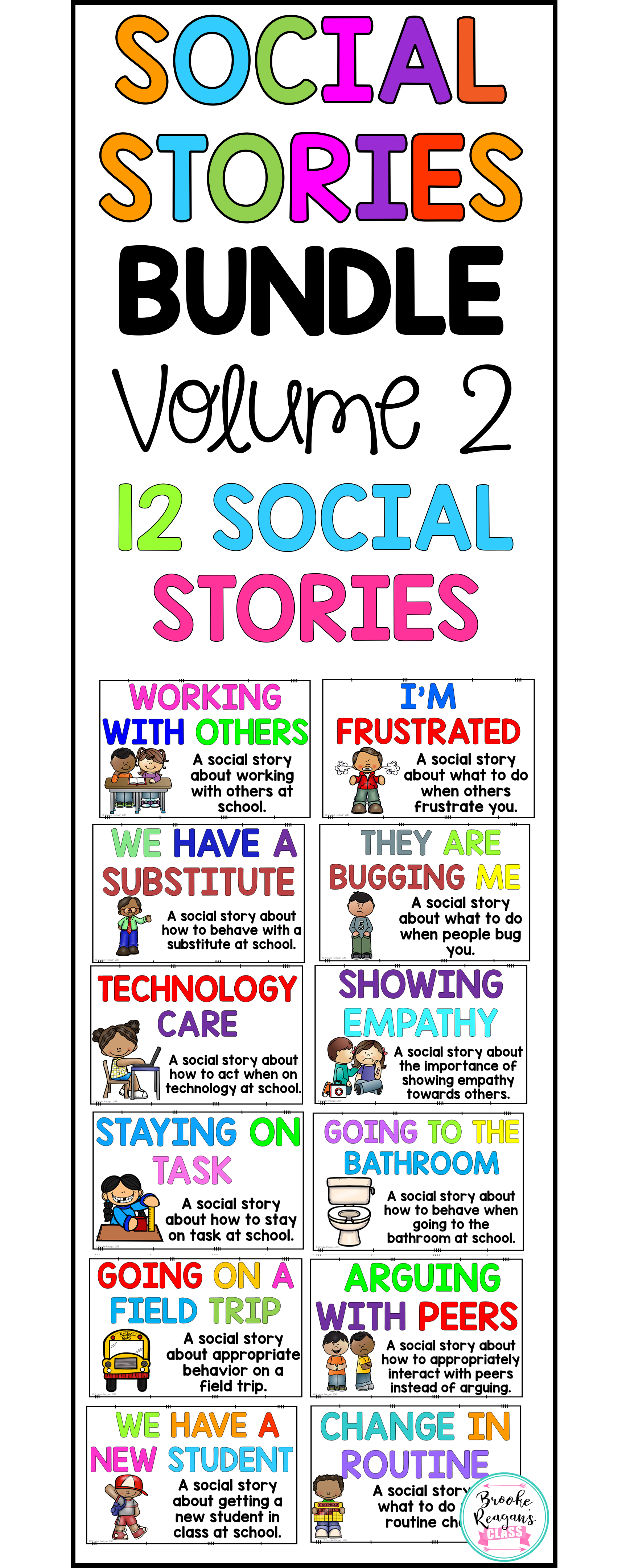 Social Story Volume 2 12 Social Stories Teaching