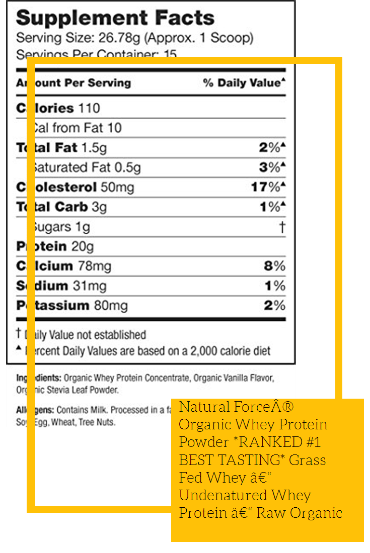 Natural Forcea Organic Whey Protein Powder Ranked 1 Best Tasting Grass Fed Whey A U Organic Whey Protein Powder Natural Whey Protein Organic Whey Protein