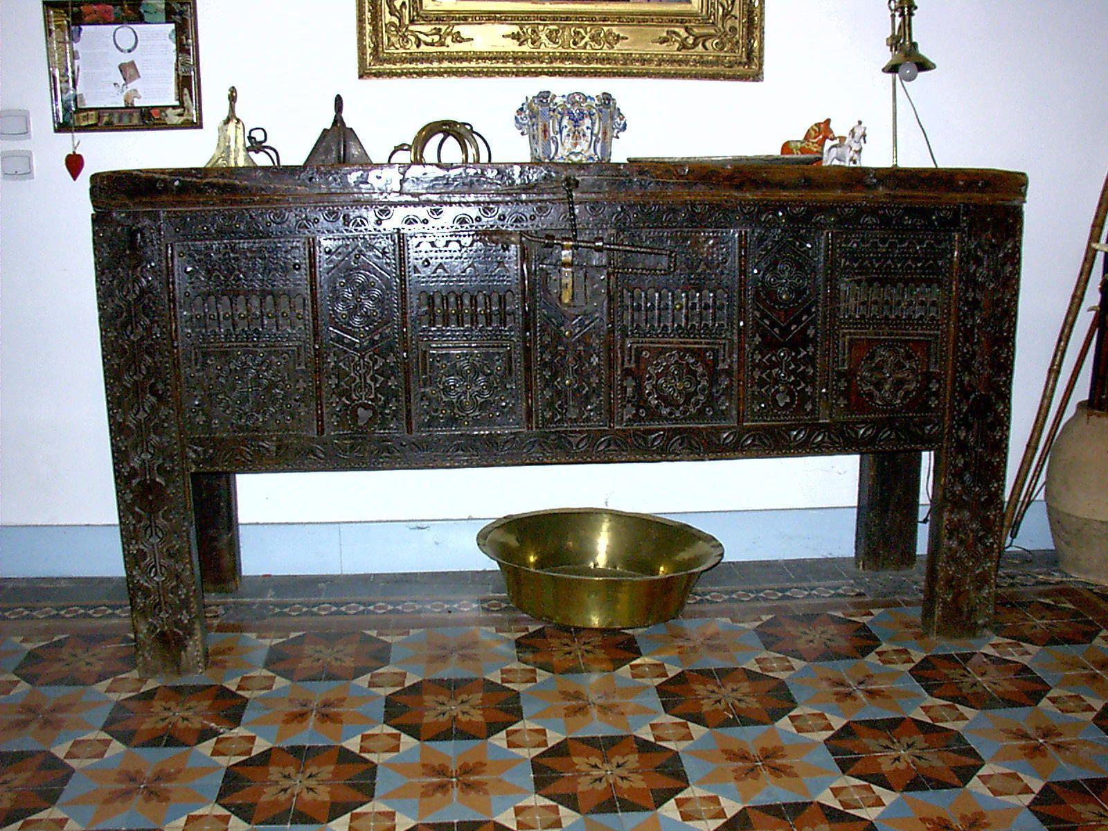 Grand Coffre Kabyle Ancien Xix Eme Ebay Coffre En Bois Coffre Kabyle