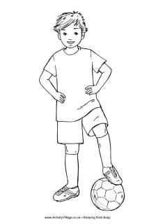 Soccer Colouring Pages Sports Coloring Pages Football Boys