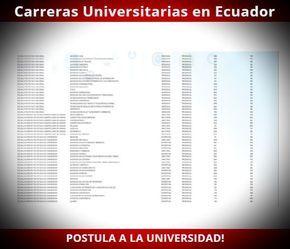 Lista de nuevas Carreras Universitarias en Ecuador ( Ser Bachiller 2017 )