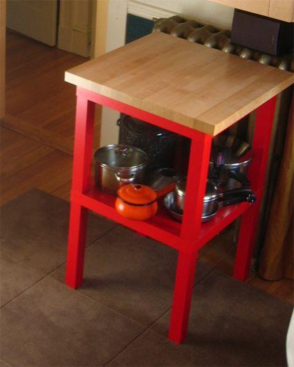 Hacking the IKEA Lack Table - Kitchen Island