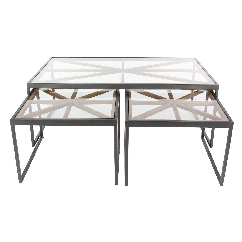 Studio 350 Metal Wood Coffee Table Set of 3 20 inches 20 inches  sc 1 st  Pinterest & Studio 350 Metal Wood Coffee Table Set of 3 20 inches 20 inches ...